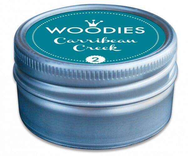 Woodies stamp pad Carribean Creek