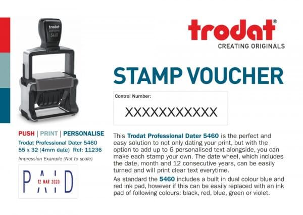 Trodat Professional Dater 5460 Stamp Voucher