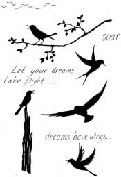Lindsay Mason Designs - Dreams have wings Clear Stamp