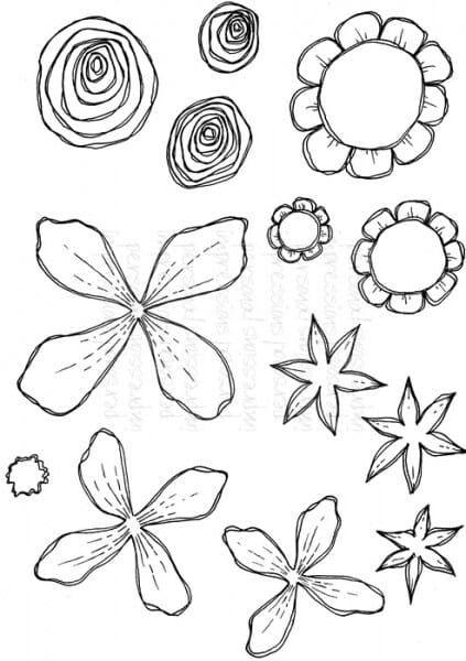 Lindsay Mason Designs - Flower Parts - Clear Stamp