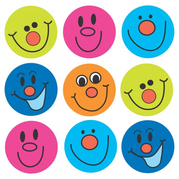 Bumper Pack - Smiley Faces Stickers