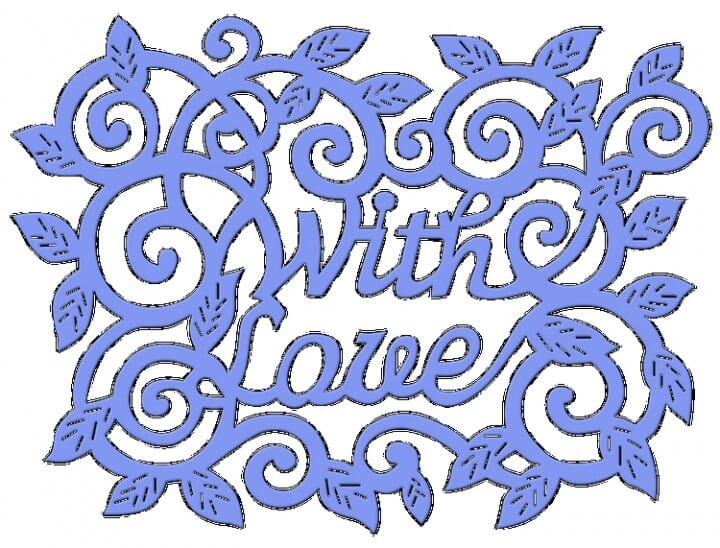 Sue Dix Designs - With Love Swirls And Leaves Everyday Metal Dies