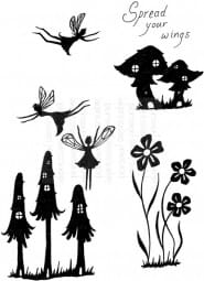 Lindsay Mason Designs - LM Fairy Mushrooms - Clear Stamp