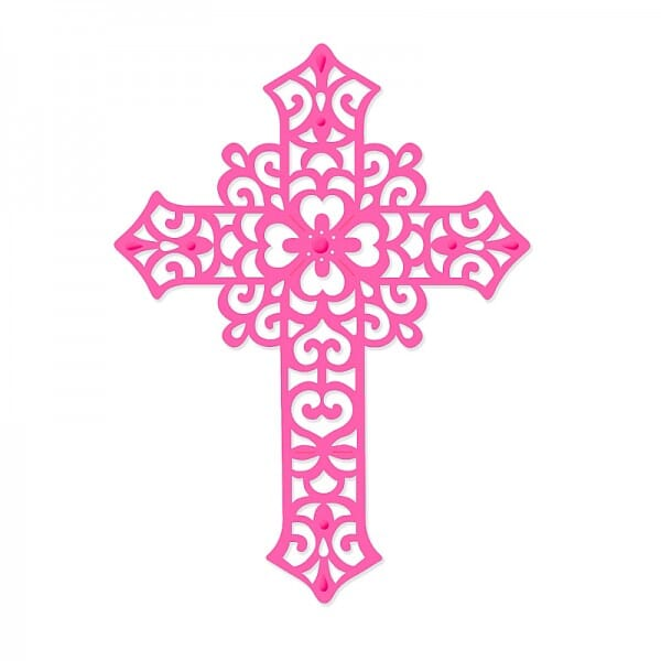 Sweet Dixie Large Filigree Cross Die by Sue Dix