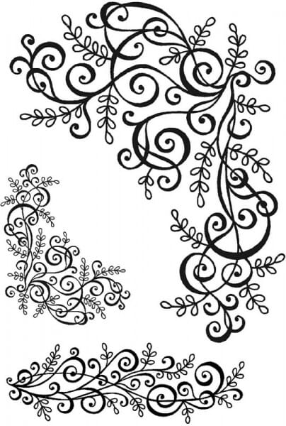 Sweet Dixie - Swirls and Flourishes 1 (Size A6) Clear Stamp