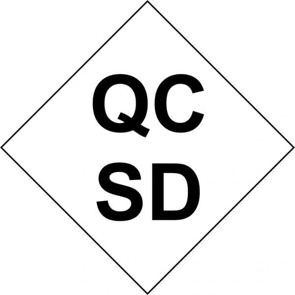 Customised Quality Control Inspection Initials - Small Stamp