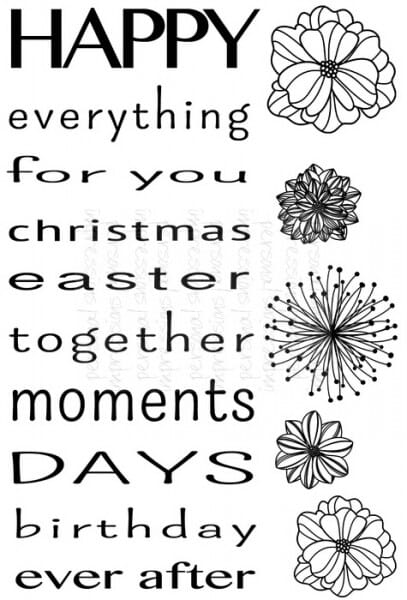 Sweet Dixie - MM Happy Everything - Clear Stamp