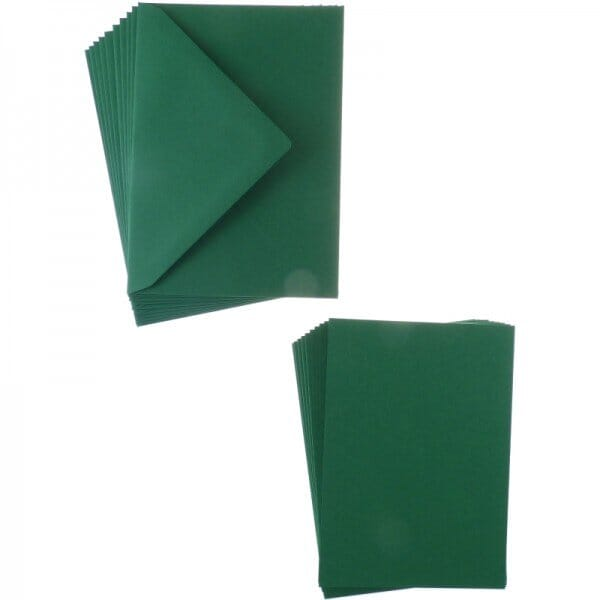 Sweet Dixie Dark Green A6 Card and Envelope Packs (10)