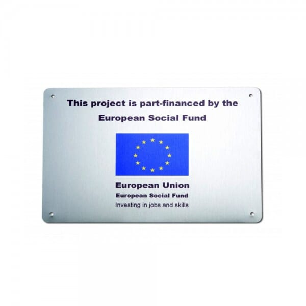 Custom wall plaque - 265 x 190 mm - brushed aluminium