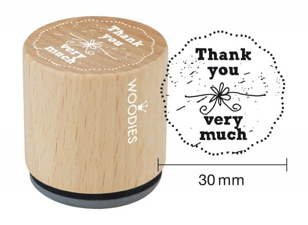 Woodies stamp Thank you very much
