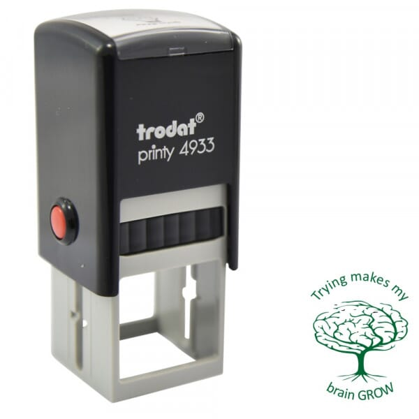 Teacher Marking Stamp - Trying Makes My Brain Grow - Printy 4933