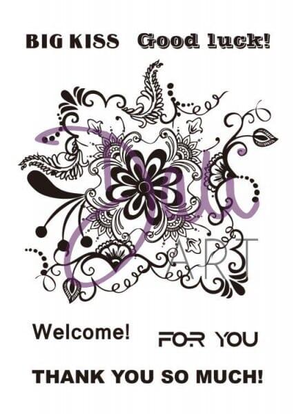 DaliArt - DaliART Clear Stamp Mehndi Floral