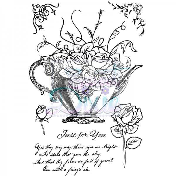 Kath Halstead Desings - Spring Florals Clear Stamp size A6