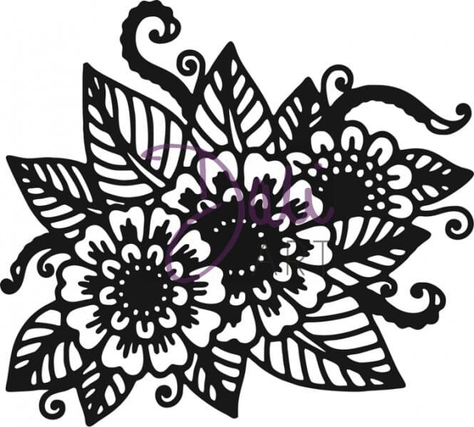 DaliArt - DaliART Clear Stamp Henna Floral