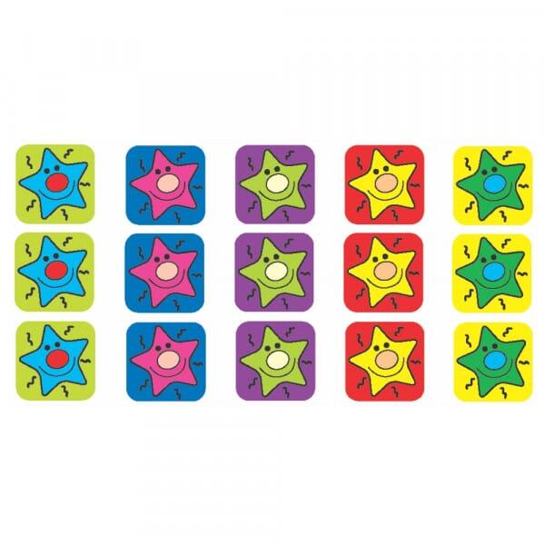 Square Mini Stickers - Colourful Stars