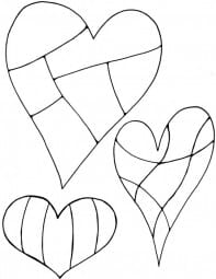 Lindsay Mason Designs - Zendoodles Hearts Clear Stamp