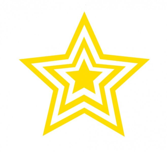 Trodat Printy 4921 - Star - Gold