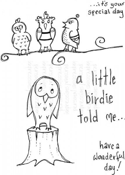 Lindsay Mason Designs - Little Birdies - Clear Stamp