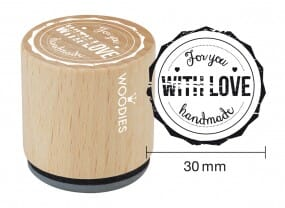 Woodies stamp For you WITH LOVE handmade