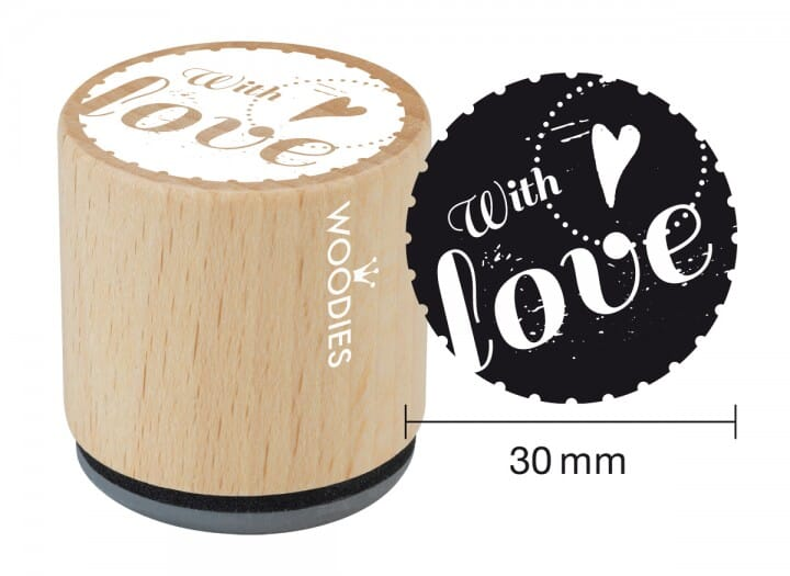 Woodies stamp With love 2