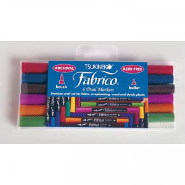 Tsukineko - Fabrico Marker 6 Colour Set