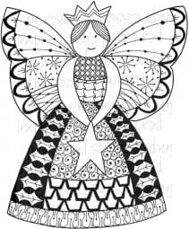 Lindsay Mason Designs - Zendoodle Fairy Ready To Go Clear Stamp