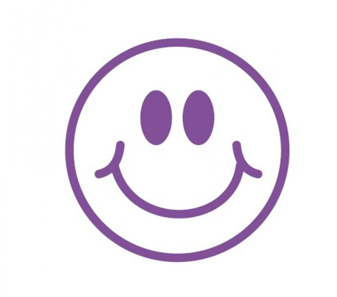 Trodat Printy 4921 - Smiley Face - violet