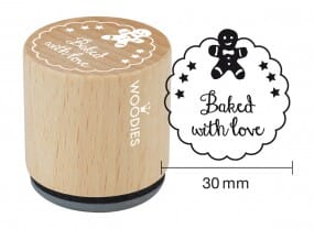 Woodies stamp Baked with love 2