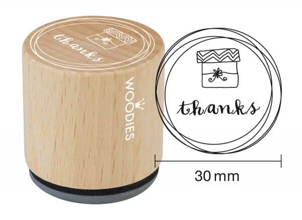 Woodies stamp Thanks