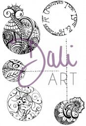 DaliArt - DaliART Clear Stamp Henna Baubles