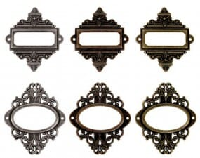 Tim Holtz idea-ology - Ornate Plates (6 pk.)