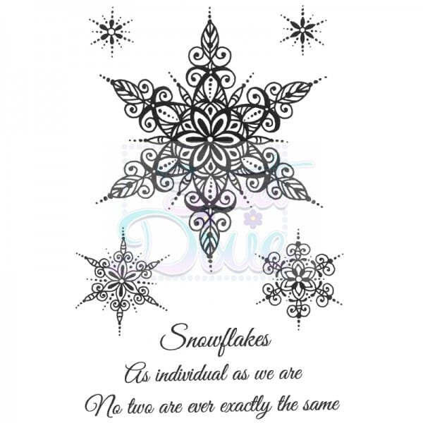 Sue Dix Designs - Large Snowflakes Clear Stamp A6