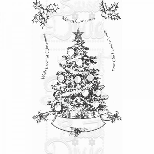 Kath Halstead Designs - Oh Christmas Tree Clear Stamp A6