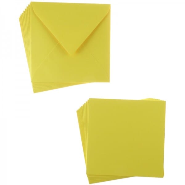 Sweet Dixie Lemon Square Card and Envelope Packs (10)