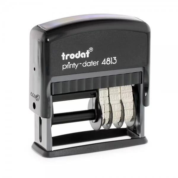 Trodat Printy Dater 4813 26 x 9 mm - 1 or 2 lines