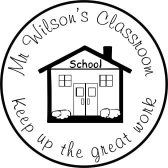 Personalised Teacher Stamp - Keep Up The Great Work