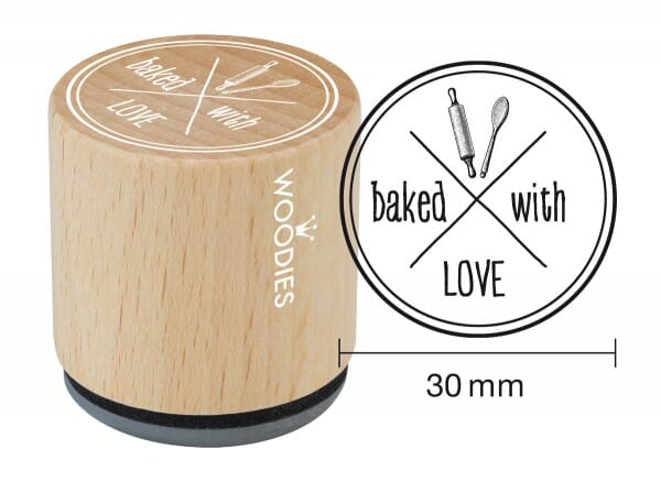 Woodies stamp Baked with LOVE 1