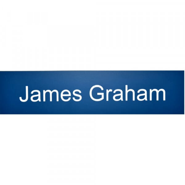 Door Nameplate in different colours - 200 x 50 mm