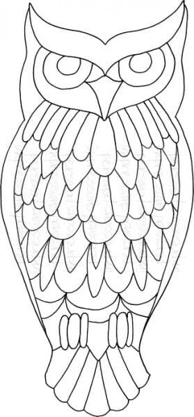 Lindsay Mason Designs - Zendoodle Big Owl - Clear Stamp