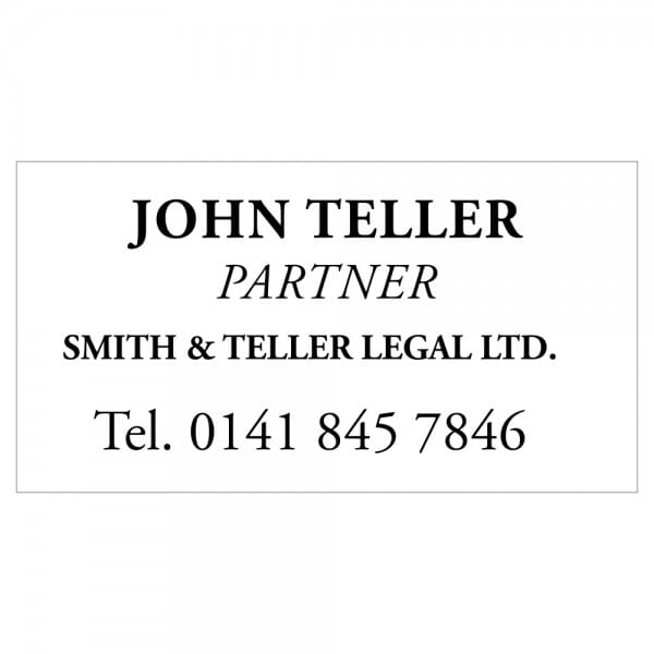 Solicitor Stamp