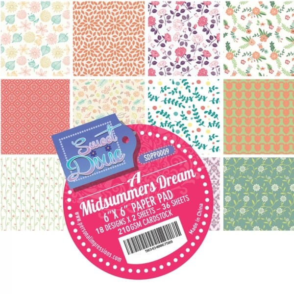 Sweet Dixie A Midsummers Dream Cardstock Pad