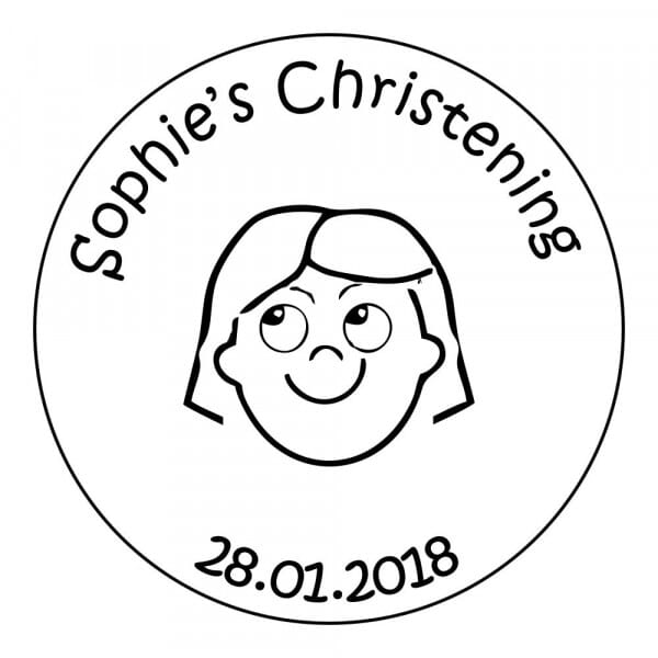 Customisable Christening Stamp - Girls