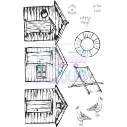 Sweet Dixie - Sweet Dixie Clear Stamp Beach Huts A6