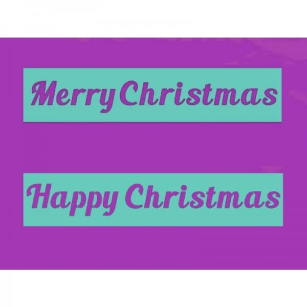 Sue Dix Designs - Happy & Merry Christmas Stencil