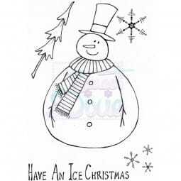 Lindsay Mason Designs - Jolly Fat Snowman Clear Stamp A6