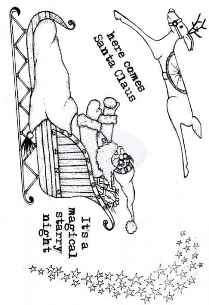 Lindsay Mason Designs - Here Comes Santa Clear Stamp