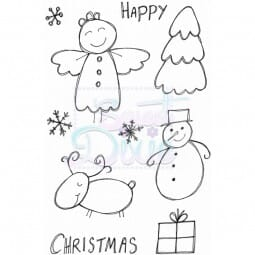 Lindsay Mason Designs - Christmas Characters Clear Stamp A6