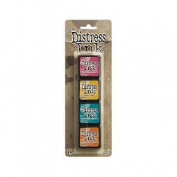 Ranger Ink - Tim Holtz Distress Ink Minis Kit 1 - Sold in one strip of 4 pads