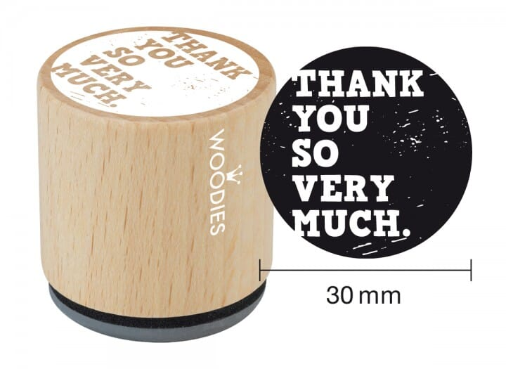 Woodies stamp Thank you so very much