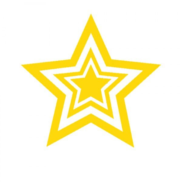 Trodat Printy 4922 - Gold triple star